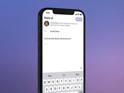 Superhuman — Remind Me iphone mobile ios ui ux email design superhuman reminders