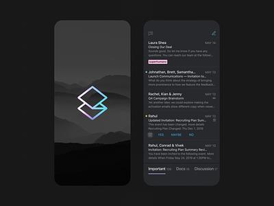 Superhuman — Carbon design ui ux mobile app carbon superhuman ios dark theme mobile