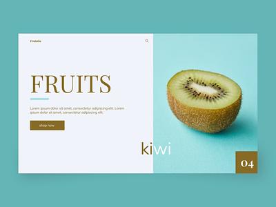 Frutatin typography uiux design web ux ui