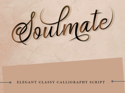 Soulmate Calligraphy Writing artwork typography graphic design ui branding creative writing lettering calligraphy photoshop art design