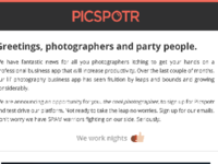 PicSpotr Coming Soon Email
