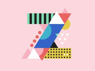 36 Days of Type — Z design type retro illustration motion design 2d animation colors motion gif animation 2d typography motion graphics animated after effects graphic design loop animation 36days 36daysoftype 36daysoftype-z