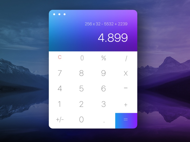 Daily UI 04 - Calculator