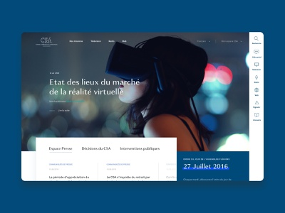 CSA french council redesign art direction uiux ui