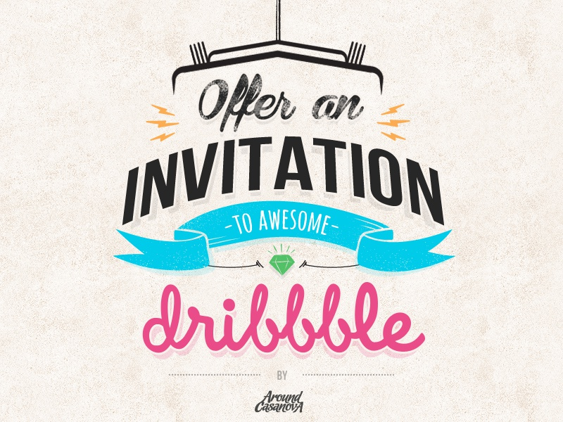 Invitation dribbble