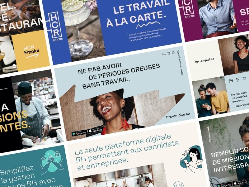 HRC-emploi Branding visual identity branding