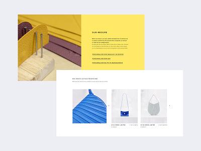 Camille Fournet Website leather homepage design ux ui webdesign art direction luxury
