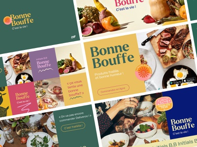 Bonne Bouffe Branding food and drink visual identity visual color logo branding food
