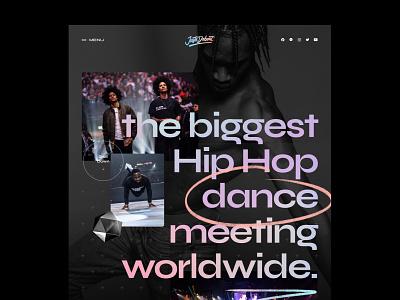 Juste debout website dance landing art direction ui