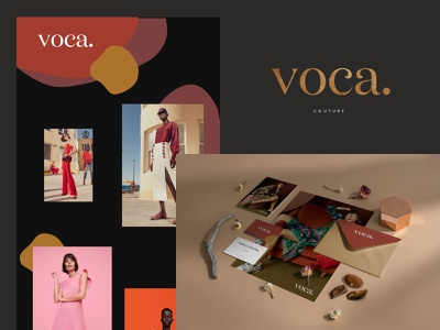 Voca couture bordeaux brand identity wip brand identity branding