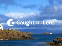 Caught in a Lens Logo