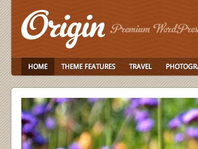 Origin WordPress Theme texture