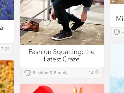 Fashion Squatting blog icons layout