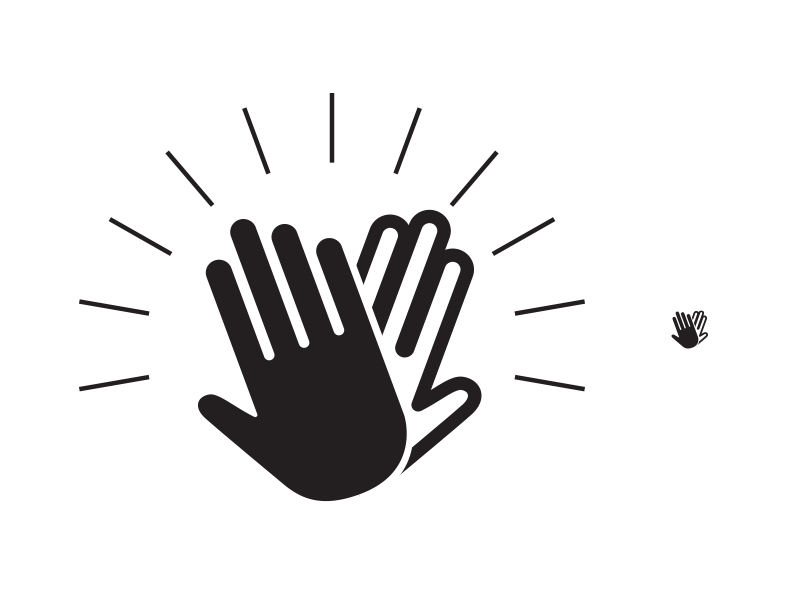 High Five Icon WIP By Sean Collins On Dribbble