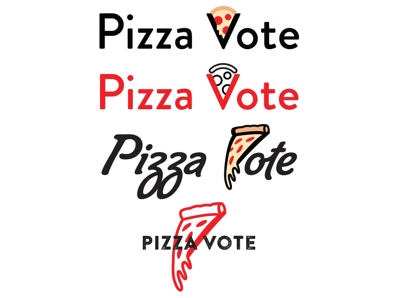 Pizza vote logos