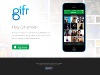 Initial Gifr Landing Page