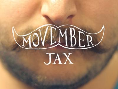 Movember jax logo face