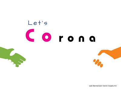 coronaLetsCoPoster0320 160x120 copyright poster design design