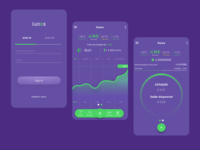 Crypto Wallet Lunes done in Sketch