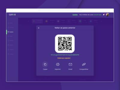 Wallet Lunes - Progressive Web Application - Copy Address