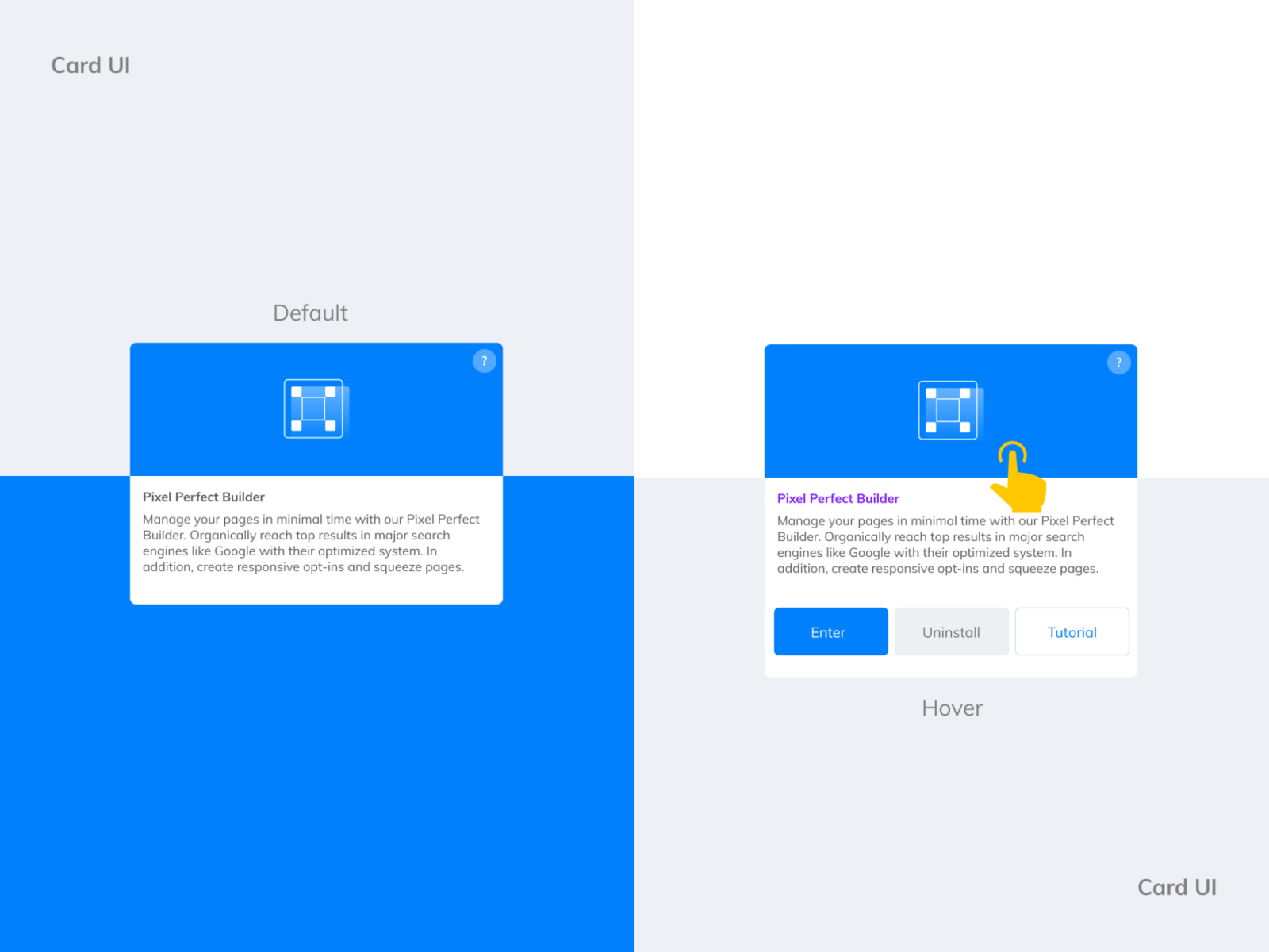 Card Ui Design Builderall Search By Muzli