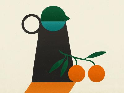 Summer Stillife green texture vector fruit drinks summer vase orange juice