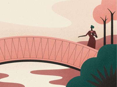 The Origin of Love Locks valentine plant river vector character bridge trees locks love