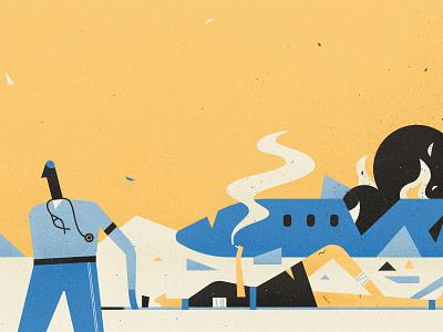 Women's Month smoke flames yellow cigarette medics plane crash