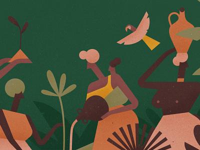 Women's Month women green environment forest vector plants kenya africa