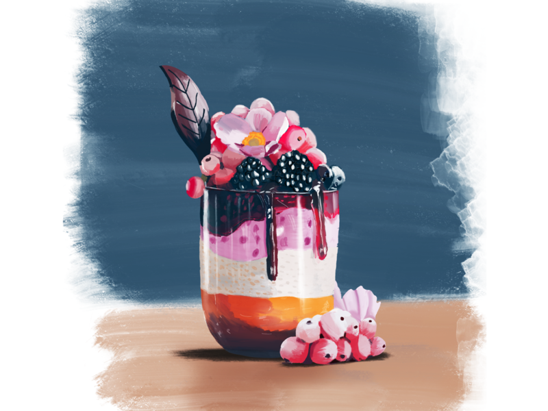 Yummy Dessert Illustration