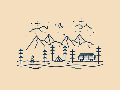 Camping Mug - PNW rv northwest mug illustration
