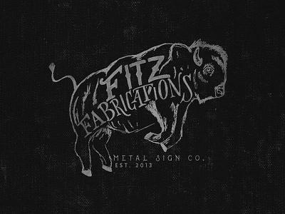 Fitz Fabrications - Tulsa, OK t-shirt fabrications fitz sign metal illustration bison