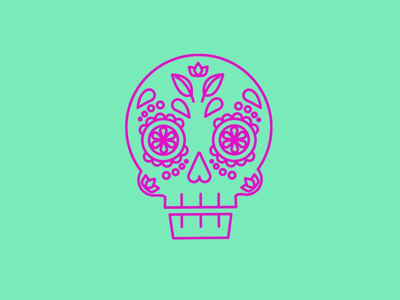 Teensy Skull vector illustration ok tulsa cinco de mayo mayo de cinco skull
