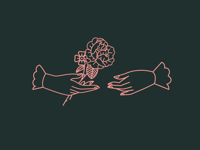 Exchange vector illustration tulsa leaves flowers rose tattoo flower hands
