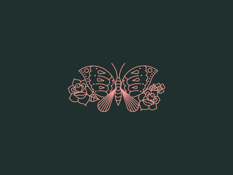 Moth/Butterfly Friend illustration vector tattoo roses moth butterfly