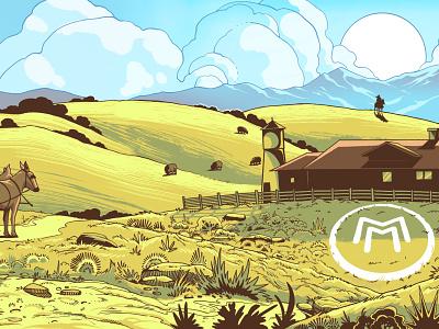 Trailer Wrap Illustration illustrator branding illustration design