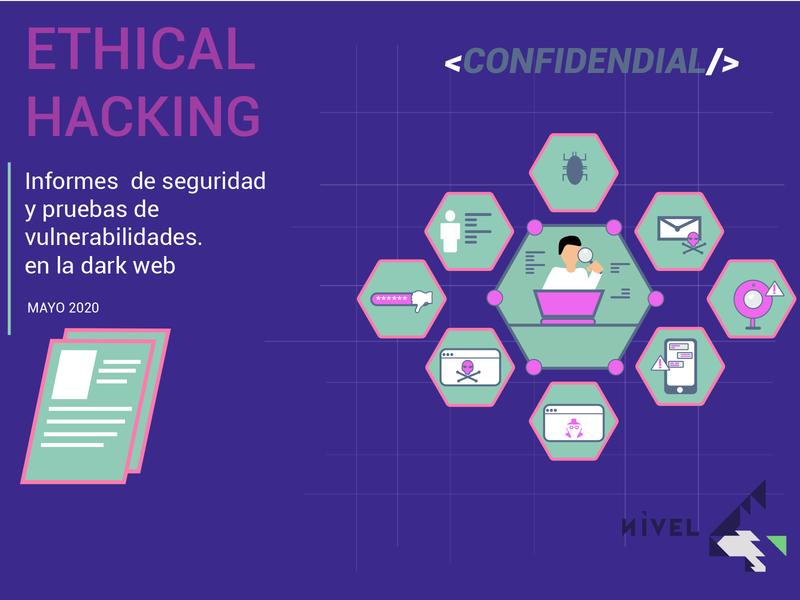 ethical hacking typography ilustración diseño