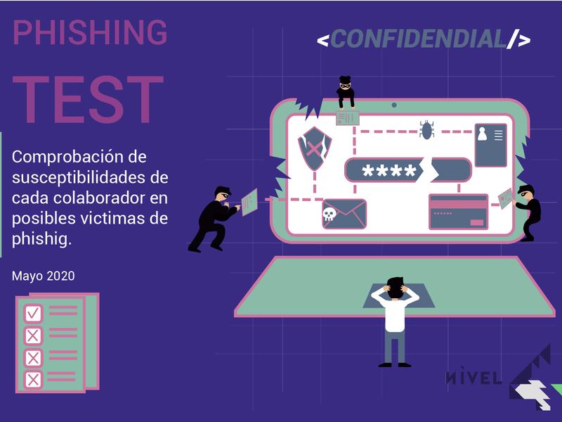 phising test tipografia ilustración diseño