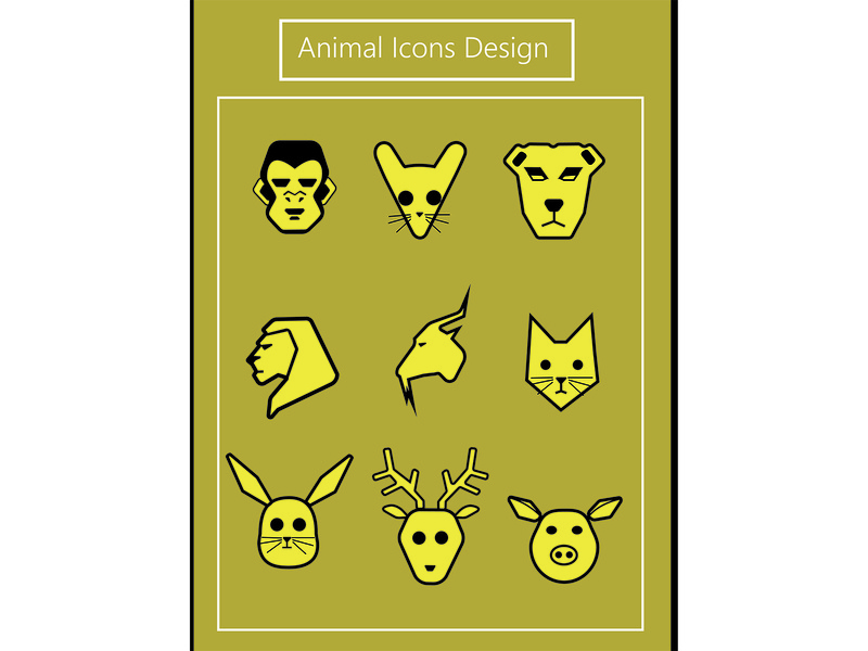 animal icons diseño illustration icon