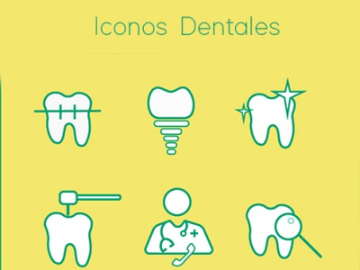 iconos dentales illustration vector icon diseño