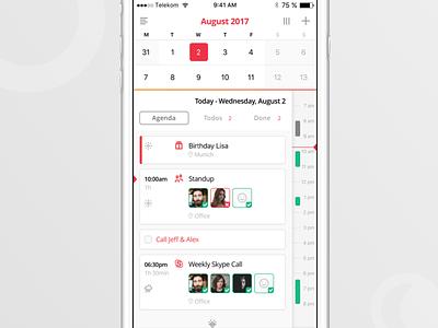 Calendar. Todos. Timeline. calendar time today simple gtd todos productivity timeline agenda