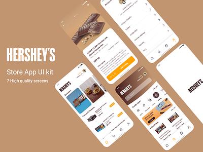 Hershey's Store App UI Kit uplabs ui coffe-delivery-app food drink-delivery drinks ui kit starbucks coffe delivery nestle hersheys baking