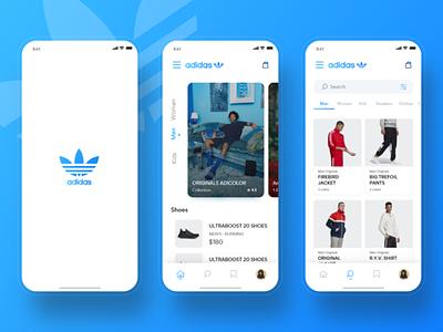 Adidas Originals Store App #1 cards ui ui clothing card shopping shop store sketch uplabs sneakers nike adidas originals adidas store app