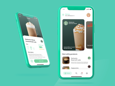 Coffee Delivery App sketch uplabs ui brazil delivery service delivery app starbucks starbuck coffee shop coffeeshop coffee cup coffee delivery