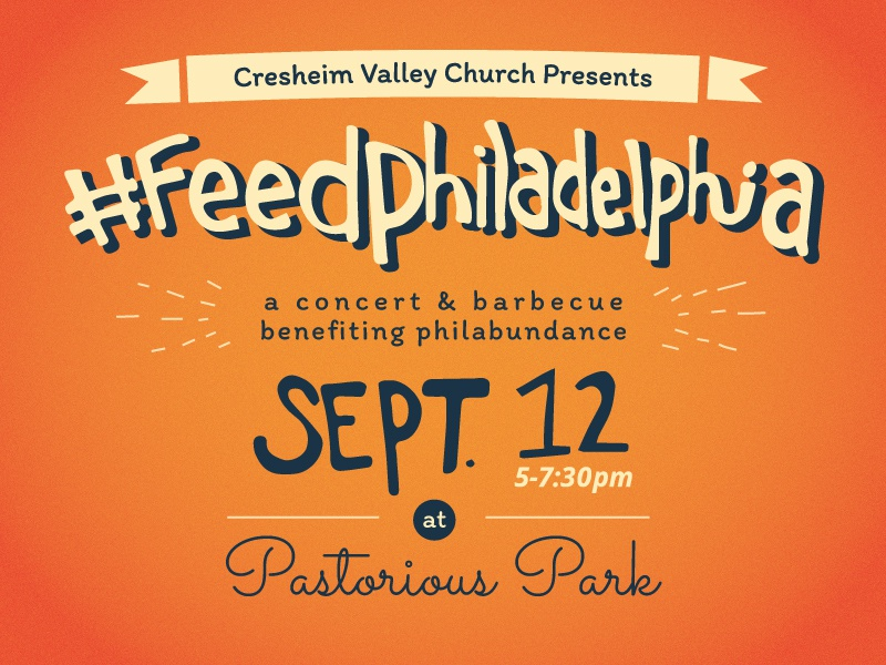 #feedphiladelphia Poster Design orange event typography poster feedphiladelphia