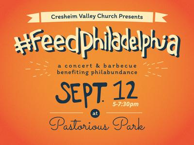 #feedphiladelphia Poster Design