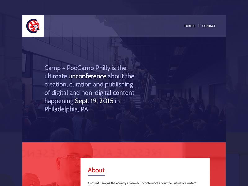 Content Camp Website Design ui onepage webdesign event conference camp