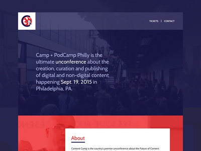 Content Camp Website Design ui onepage webdesign event conference camp