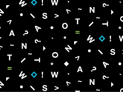 Watson Branding Pattern repeating pattern letter patterns typography watson ibm repeat scatter branding pattern letters