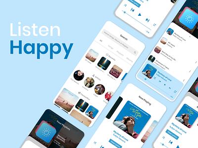 Music Player UI app mobile app mobile ui xd ux ui ios android audio player audio music player music